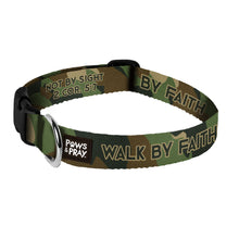 Load image into Gallery viewer, Paws & Pray Walk By Faith Bandana Pet Collar