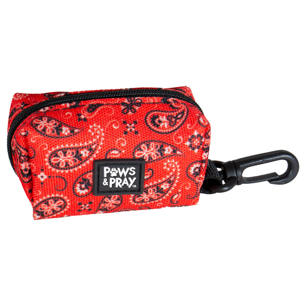 Paws & Pray Walk By Faith Bandana Pet Waste Bag Dispenser