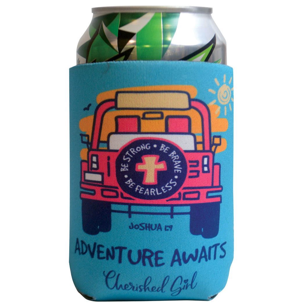 Cherished Girl Adventure Awaits Can Cooler