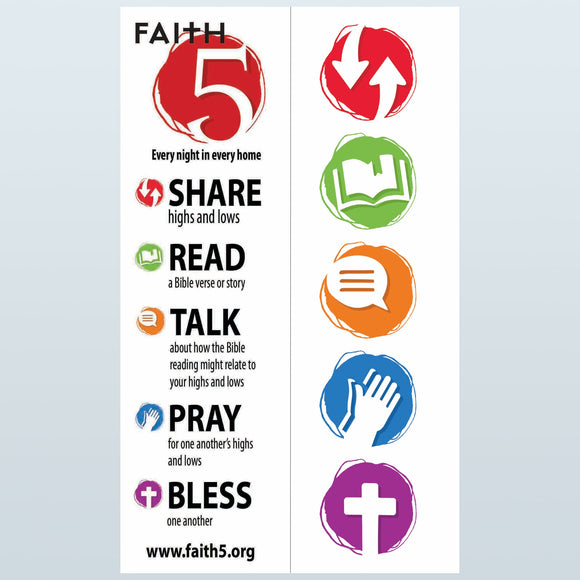 FAITH5 Bookmarks (Bundles of 100)