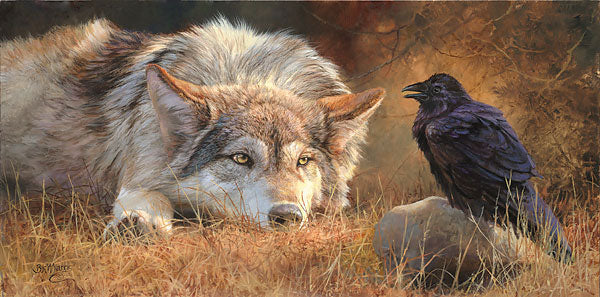Hugin, Munin, Geri and Freki: The partnership between Wolf and Raven