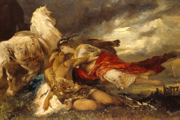 Valkyrie and a Dying Hero by Hans Makart, c.1877.