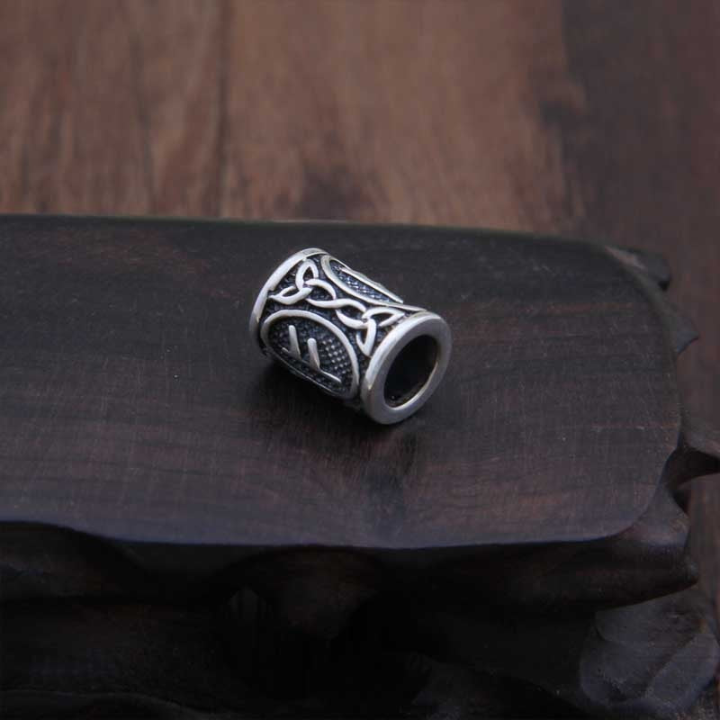 Sterling Silver Runes Beard Rings