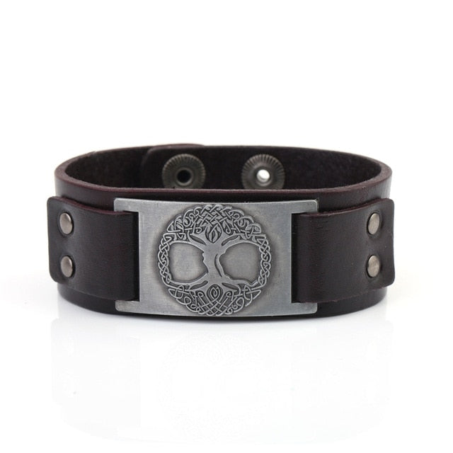 Yggdrasil The Tree of Life Leather Bracelet