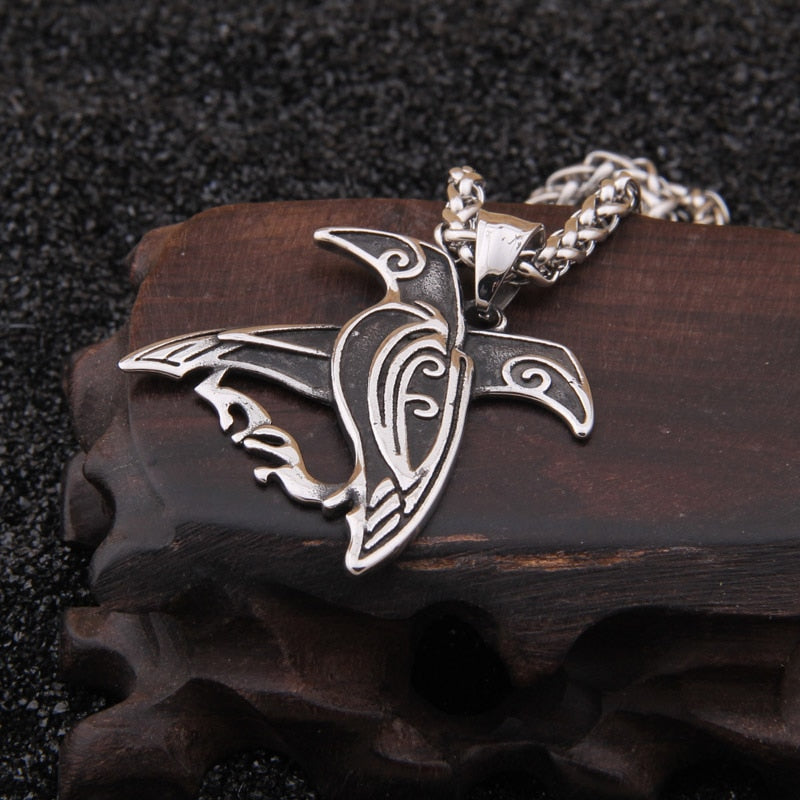 Hugin and Munin Stainless Steel Necklace