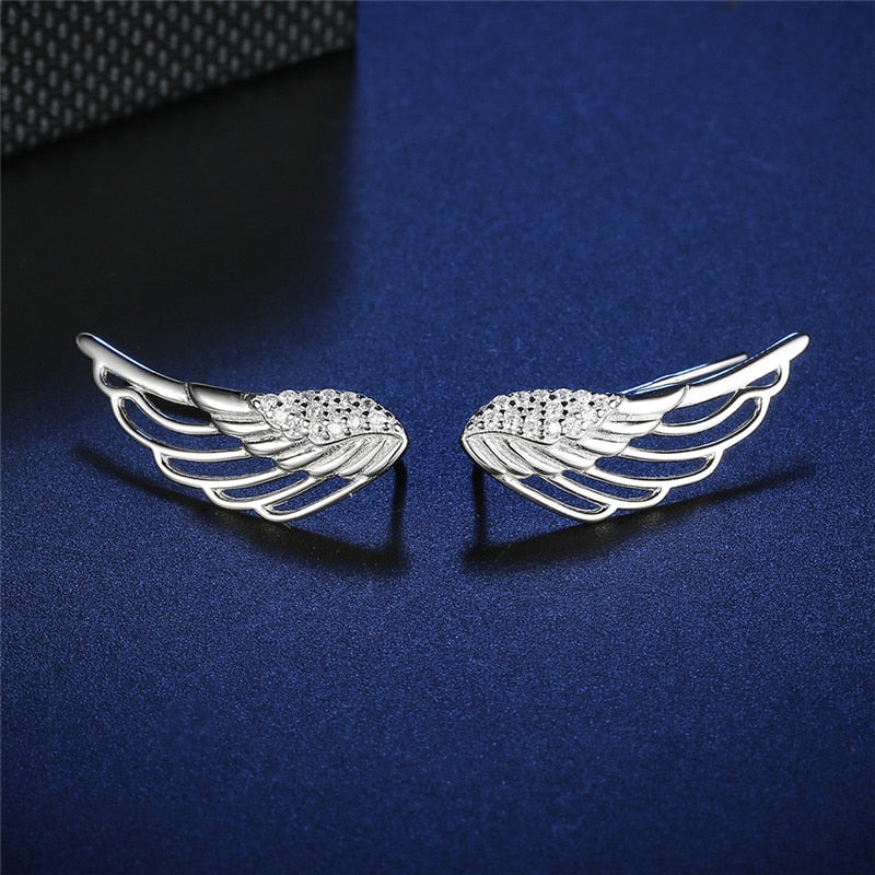 Valkyrie Wings 925 Sterling Silver Earrings