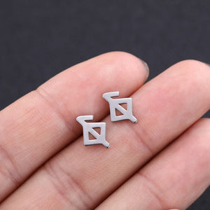 Sacred Runes Stainless Steel Earrings