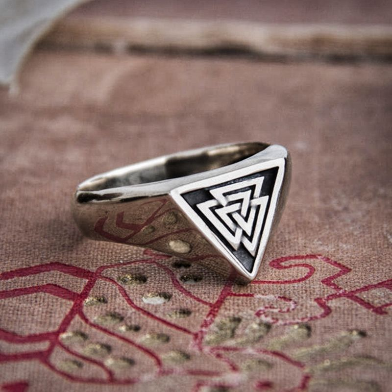 Ancient Valknut Stainless Steel Ring
