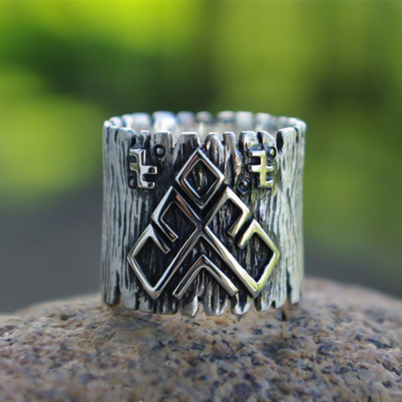 Odin Massive Rune Ring - Stainless Steel Rune Ring