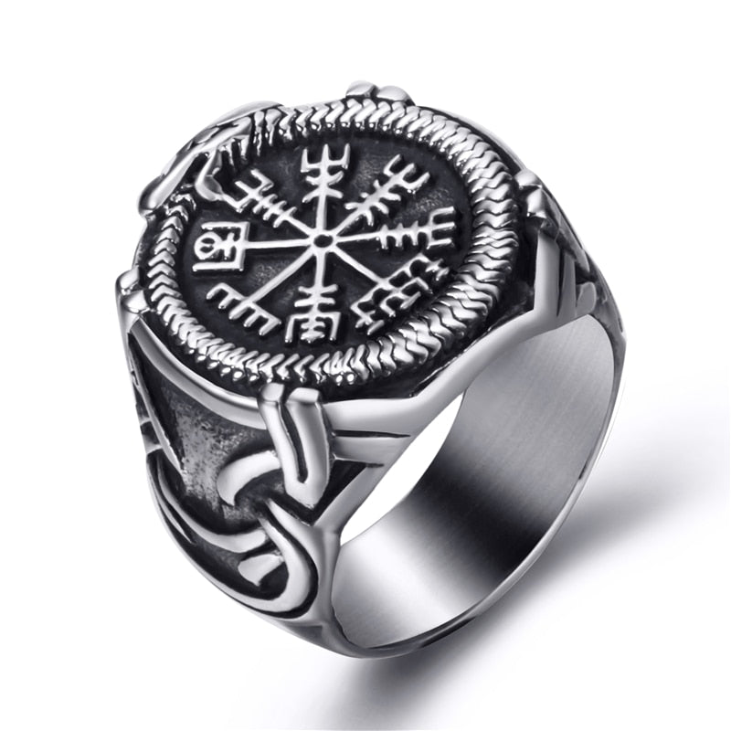 The Viking Compass Vegvisir and the World Serpent