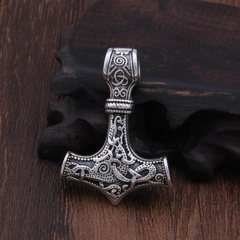 Mjolnir Necklace in 925 Sterling Silver