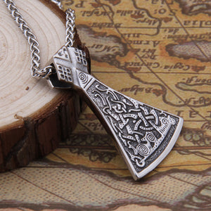 Viking Axe Head Stainless Steel Necklace