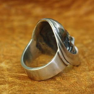 Peaceful Hel's Visage 925 Sterling Silver Ring