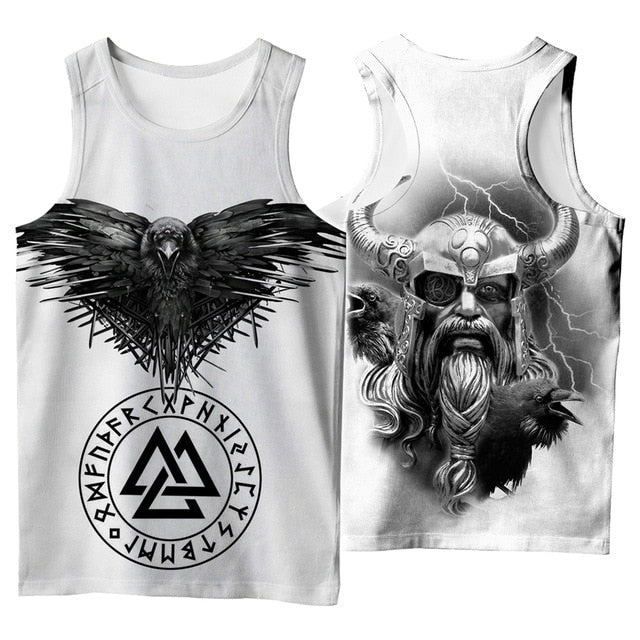 Odin 3D Printed Unisex Tank Top