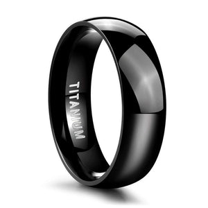Frigg's Vows Black Titanium Ring