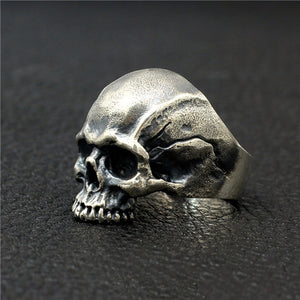 Bound to Hel  925 Sterling Silver Skull Ring