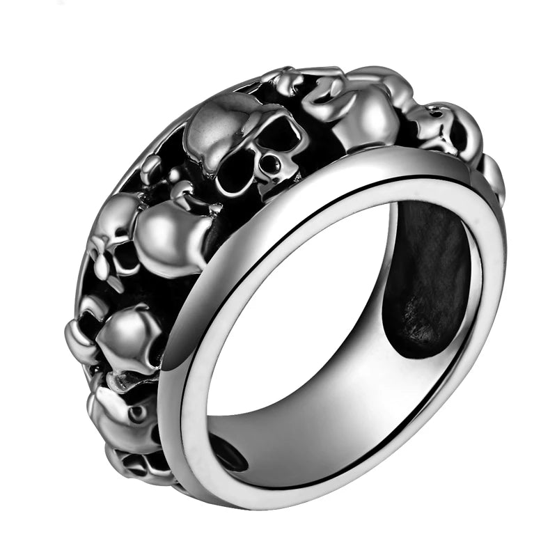 The Ring of Skulls 925 Sterling Silver