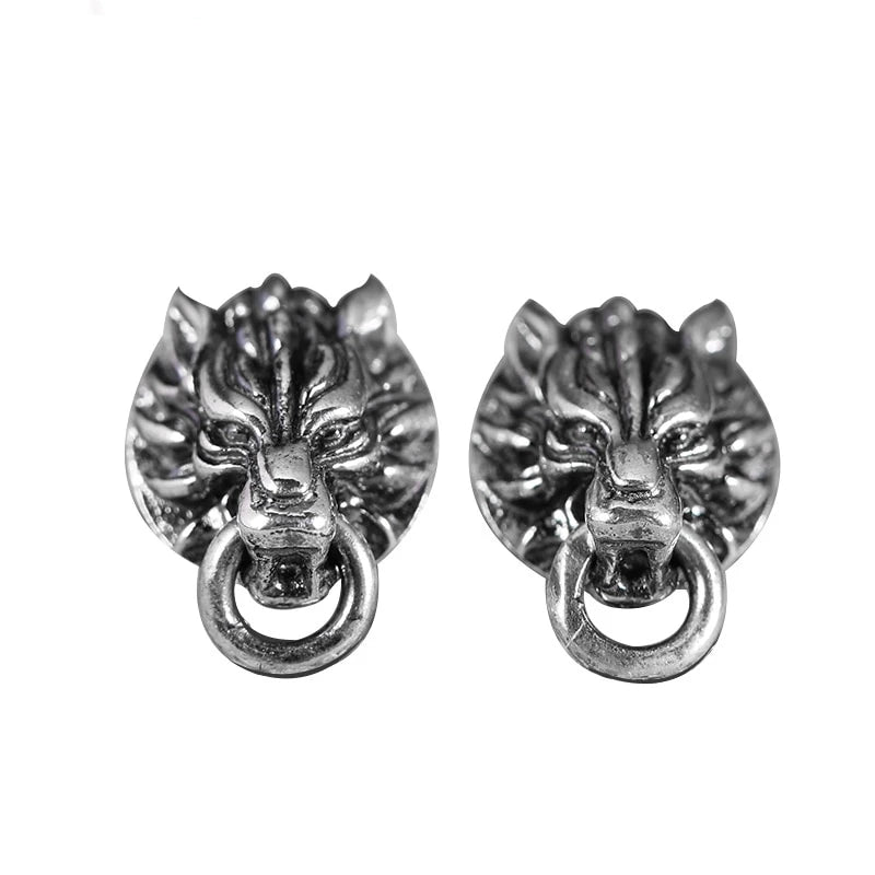 Fenrir Vintage 925 Sterling Silver Earrings