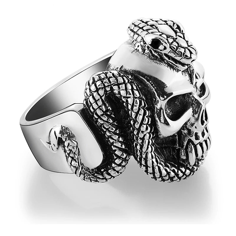Embrace of Níðhöggr 925 Sterling Silver Ring
