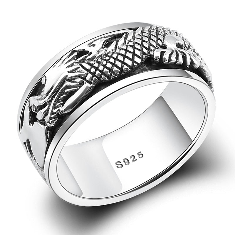 Jörmungandr 925 Sterling Silver Rotatable ring