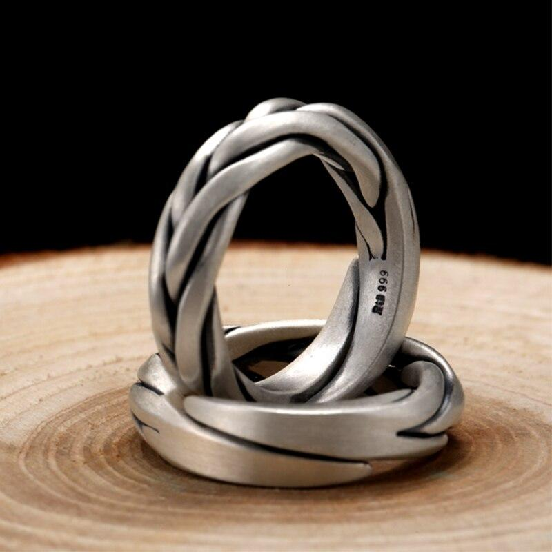 Frigg's Knot -  925 Silver Ring and Wedding band