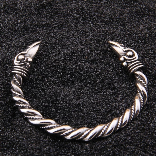 Odin's Ravens Stainless Steel Arm Ring Bracelet