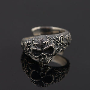 The Gentle Skull 925 Sterling Silver Band