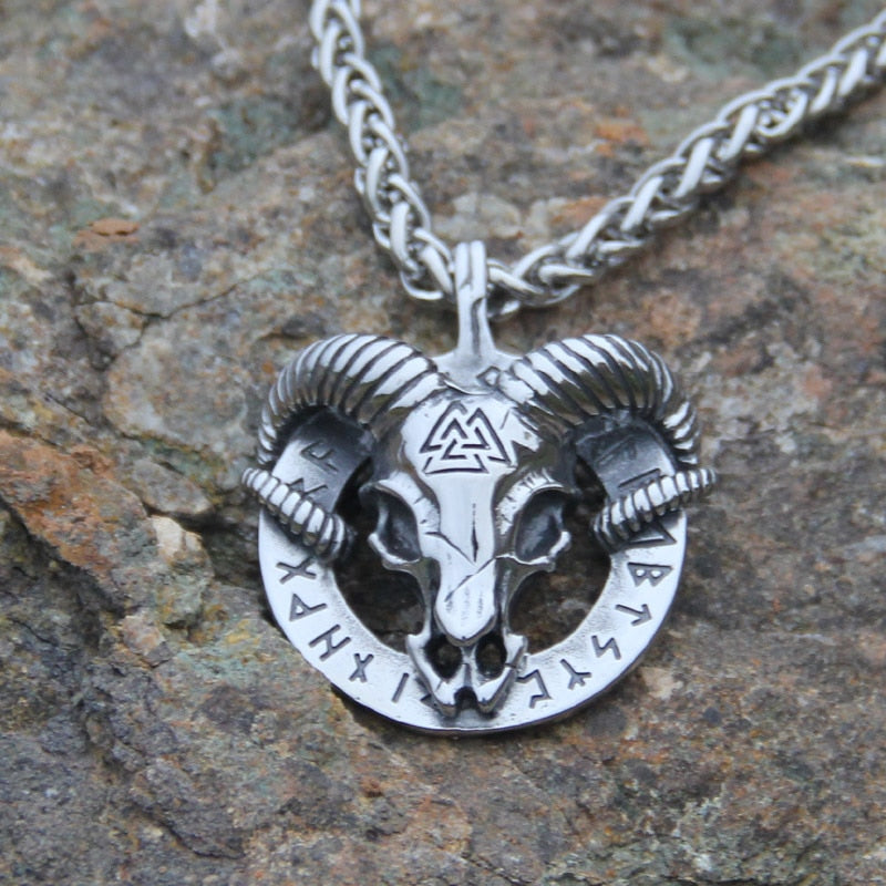 Thor Goat 316 Stainless Steel Necklace