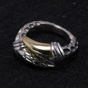 Jörmungandr Single Claw Handmade 925 Sterling Silver Ring