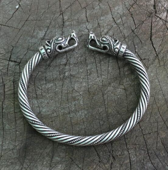Torc of Geri and Freki - Odin's Wolves Torc Necklace and Arm ring