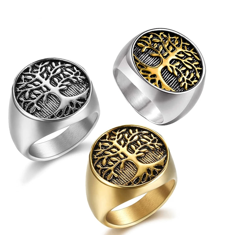 Yggdrasil - The Tree of Life Titanium-Steel Ring