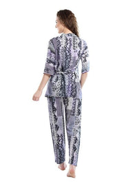 Women Light Colored Printed Modal Night Suit-1027 - The Loungewear