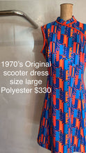 Load image into Gallery viewer, Vintage 1970's Original scooter dress