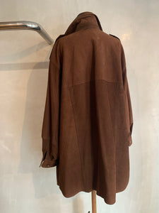 Vintage 1990's Suede leather oversized jacket