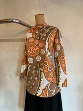 Load image into Gallery viewer, Vintage 1960's French GoGo blouse