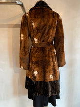 Load image into Gallery viewer, Vintage 1970's Faux fur animal print coat