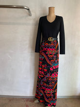 Load image into Gallery viewer, Vintage 1960's French long winter dress
