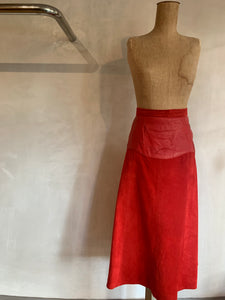 Vintage 1980's Real suede leather mad max skirt