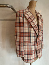 Load image into Gallery viewer, Vintage 1970's Tartan blazer