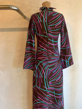 Load image into Gallery viewer, Vintage 1970's Psychedelic maxi dress