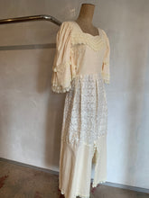 Load image into Gallery viewer, Vintage 1970's Custom made lace dress