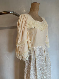 Vintage 1970's Custom made lace dress