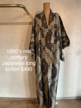 Load image into Gallery viewer, Vintage 1960's Japanese mid century long kimono