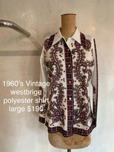 Load image into Gallery viewer, Vintage 1960's Westbridge shirt