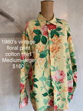 Load image into Gallery viewer, Vintage 1980's Floral print shirt