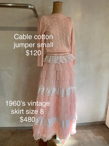 Cable cotton jumper