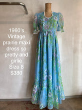 Load image into Gallery viewer, Vintage 1960's Prairie dress