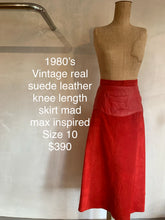Load image into Gallery viewer, Vintage 1980's Real suede leather mad max skirt