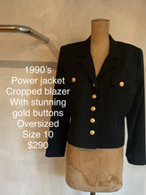 Load image into Gallery viewer, Vintage 1990's Power blazer
