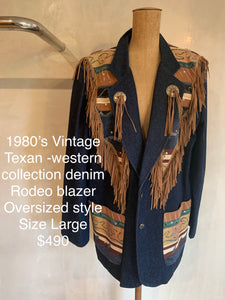 Vintage 1980's Western collection rodeo blazer